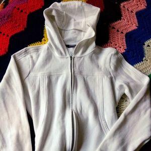 White Jacket Hoodie Kirkland Cotton size L